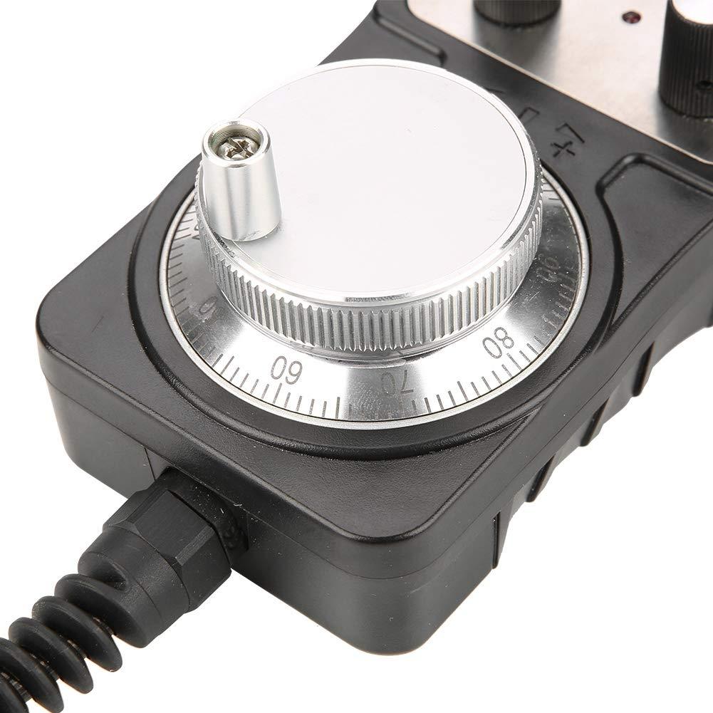 Akozon Elektronisches Handrad 5V CNC 4-Achsen-Handimpulsgenerator f/ür Werkzeugmaschinen