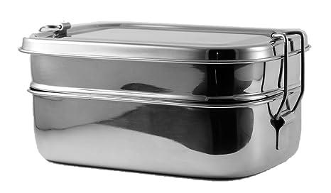 Amazon.com: Acero inoxidable Lunch Box — Tres Niveles ...