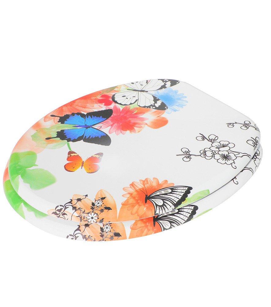Papillon Finition de haute qualit/é Charni/ères robustes Fixation facile Abattant WC