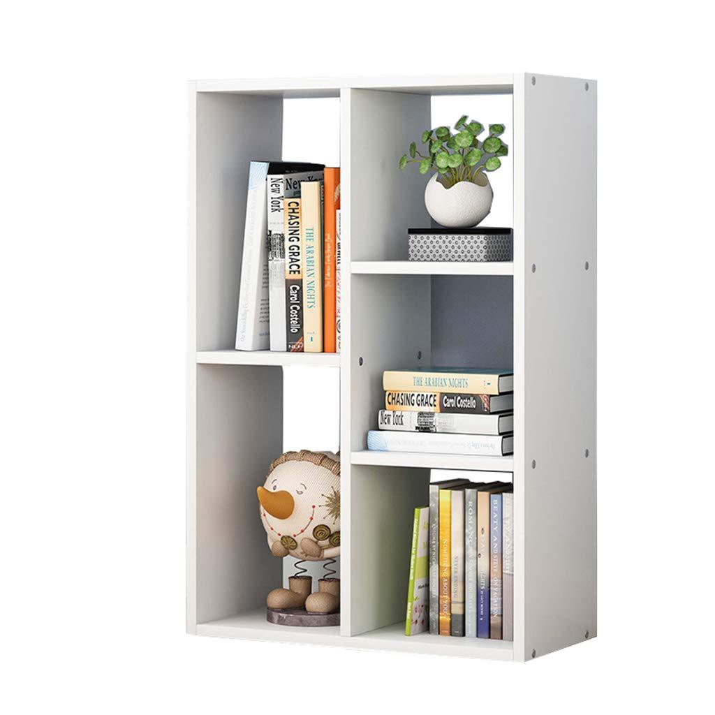 CIGONG-bookshelf Simple Bookshelf Solid Wood Floor Stand Office Simple Lockers Student Desktop Display Stand Bookcase 65x17cm