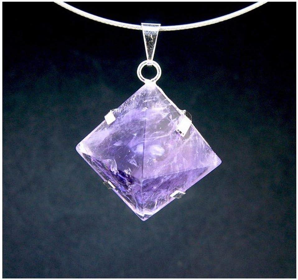 Mineral Import - Colgante Pirámide con Grapas de Amatista - 3434VC