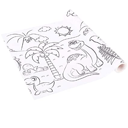 Amazon.com: Oycs Coloring Paper Roll for Kids Painting Paper ...