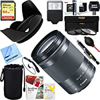 Canon (1375C002) EF-M 18-150 f/3.5-6.3 IS STM Zoom Lens for EOS M Series Cameras - Graphite + 64GB Ultimate Filter & Flash Photography Bundle