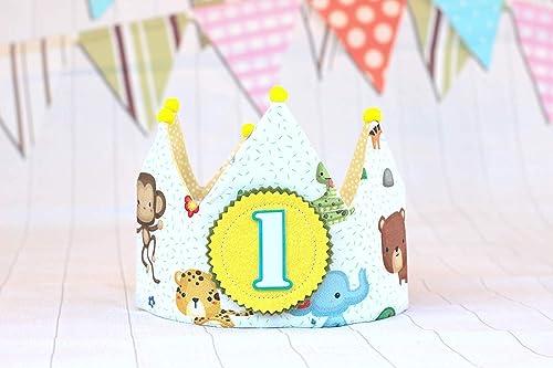 Corona cumpleaños animales de la selva, regalo de cumpleaños ...