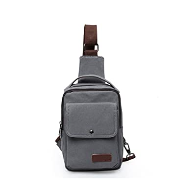 DOXUNGO Sling Backpack Canvas Chest Pack Shoulder Bag for Leisure Travel Hiking Cycling