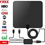 Webetop Indoor HD TV Antenna High Definition 50 Mile Range with Detachable Amplifier and USB Power Supply for Best Reception-13ft Coaxial Cable