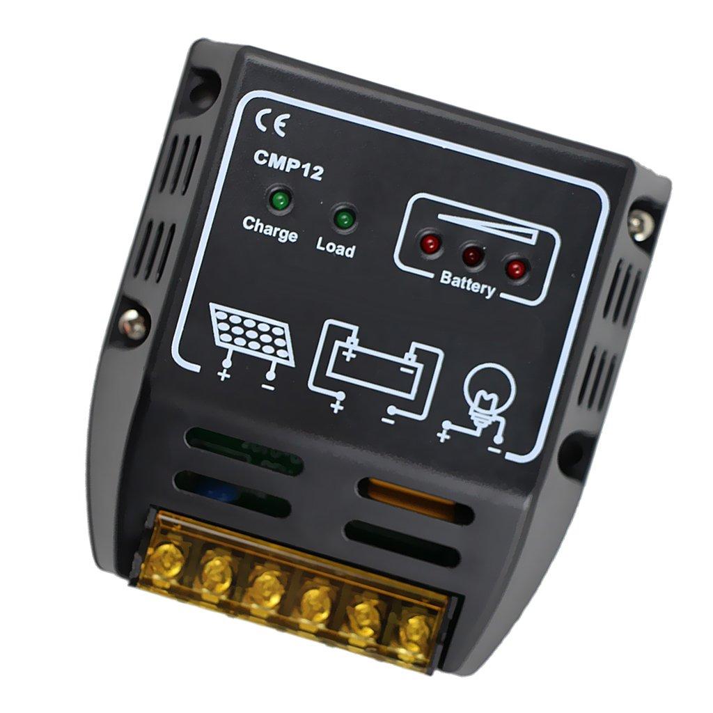 Magideal 10a Or 20a 12v 24v Solar Charge Controller Panel Regulator Safe Protection Battery Cmp12 Garden Outdoor