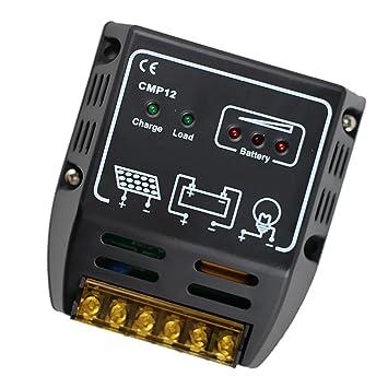 a323aa086e146e Jili en ligne 2 pièces 12 V 24 V Auto solaire Régulateur de charge Panneau  solaire batterie Régulateur moniteur Cmp12 avec manuel de l utilisateur  ...