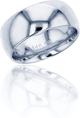 DECADENCE 10K or 14K Yellow /& White Gold 4mm Polished Plain Wedding Band Size 4-14