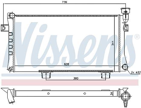 Nissens 623556/Radiateur refroidissement du moteur
