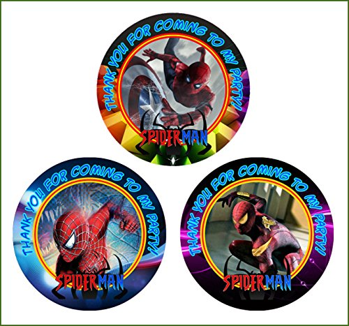 (12 Spiderman Birthday Party Favor Stickers (Bags Not Included) #1)