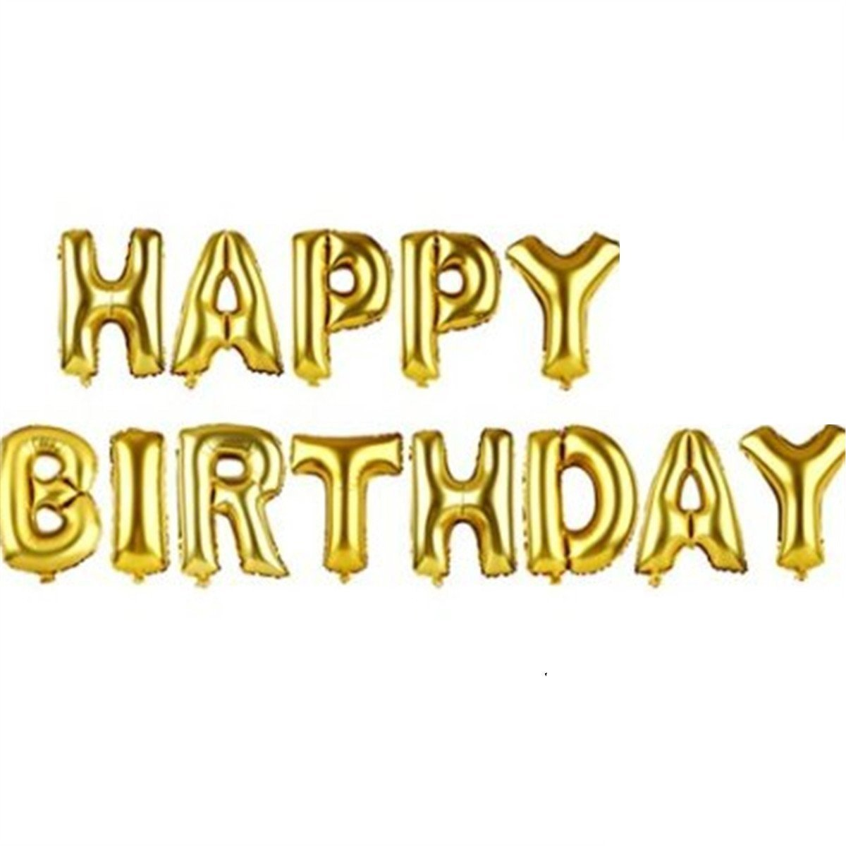 Amazon.com: PartyWoo Cute Gold Alphabet Letters Balloons Happy ...