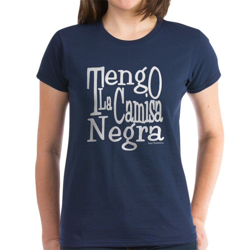 Amazon.com: CafePress - La Camisa Negra w Womens Dark T-Shirt - Womens Cotton T-Shirt: Clothing