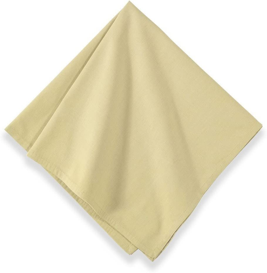 Couleur Nature Sonia Cream Napkins, 22-inches by 22-inches, Set of 12