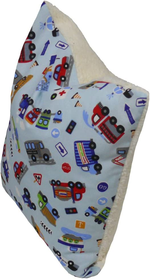 Fitzibiz Kinderkissenbezug Fahrzeuge bunt /Öko-Teddy 40x40cm auch in anderen Gr/ö/ßen verf/ügbar