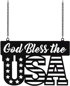 Carson Metal Garden Flag - God Bless The USA
