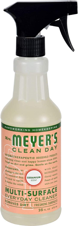 Mrs Meyer's Clean Day Multi Surface Everyday Cleaner,Geranium,16 fl oz (473 ml) (13441)