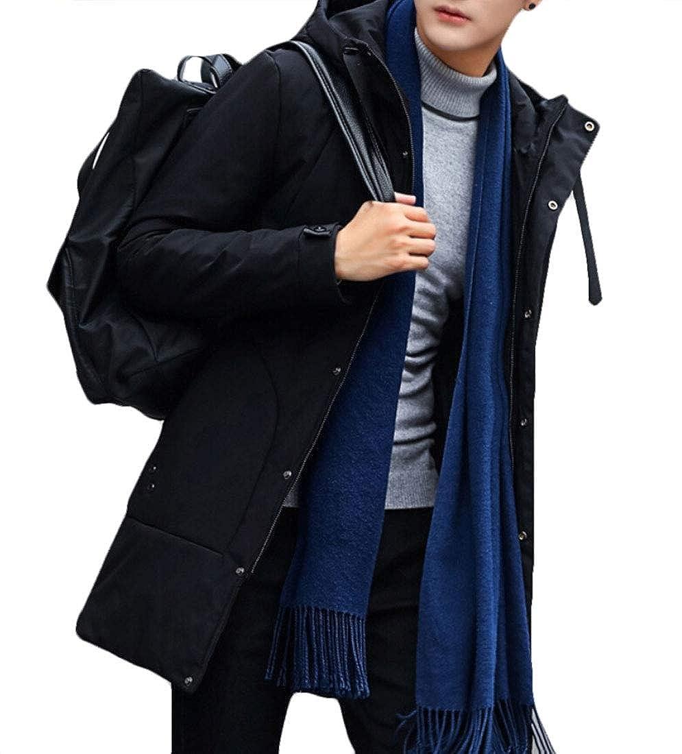 Keaac Men Jackets Coat Slim Casual Warm Hooded Winter Thick Coat Parka Overcoat Hoodie