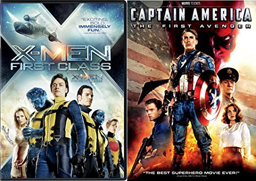 Marvel MCU 2-Movie Bundle - Captain America: The First Avenger & X-Men First Class 2-DVD Set