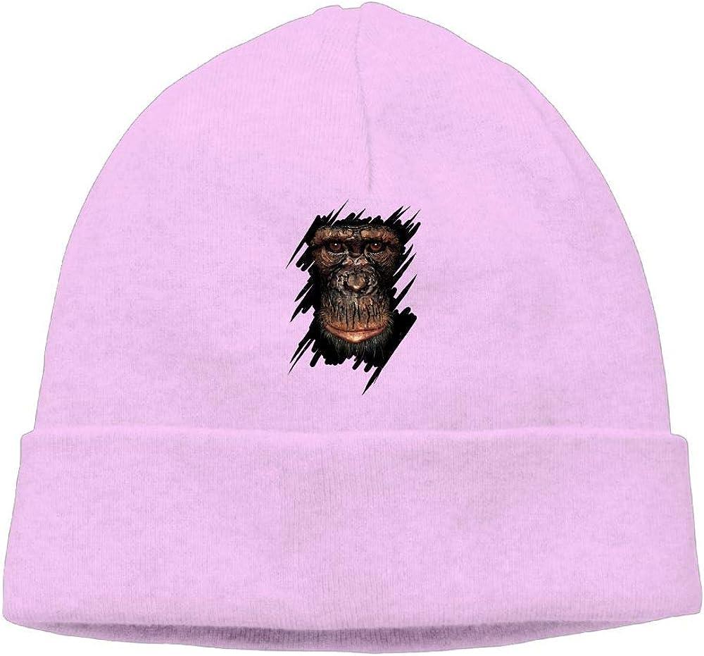 Oopp Jfhg Grimace Monkey Beanies Knit Hats Skull Cap Mens Pink