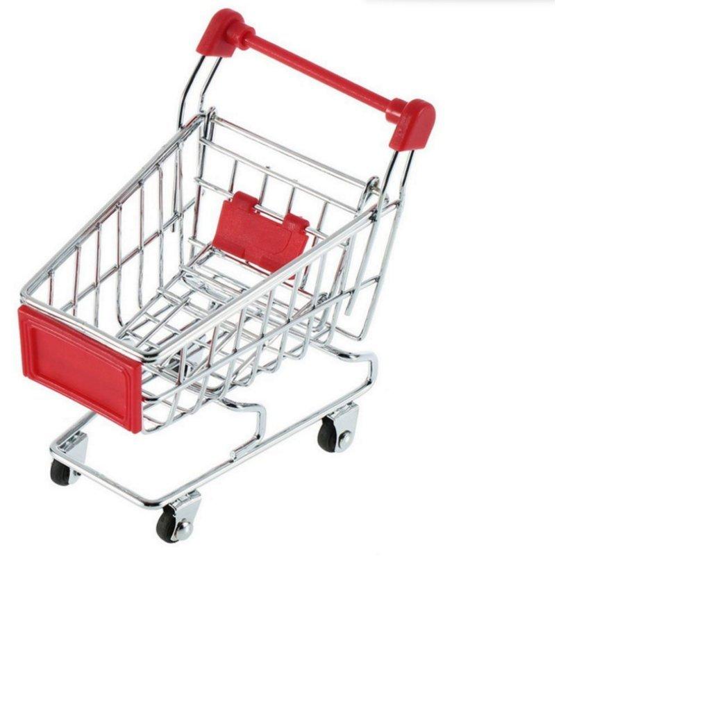 HAOYISHANG Mini Shopping Cart Supermarket Handcart Shopping Utility Cart Mode Storage Toy (blue) Mini Handcart
