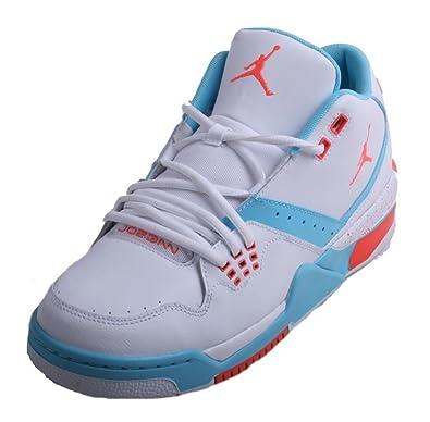 b71eb9358a5067 NIKE Jordan Flight 23 GG Girls Youth White Hot Lava Tide Pool Blue  Basketball