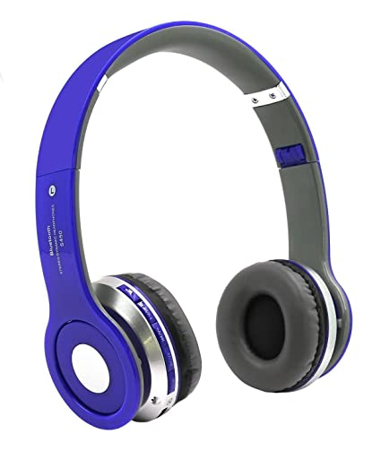 Blue Foldable S450 HeadPhone Small Wireless Stereo Waterproof Bluetooth Headphones With SD Card Slot FM