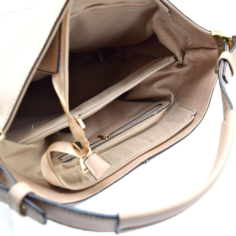Front Pocket Classy Single Strap Soft PU Leather Hobo Bag Purse