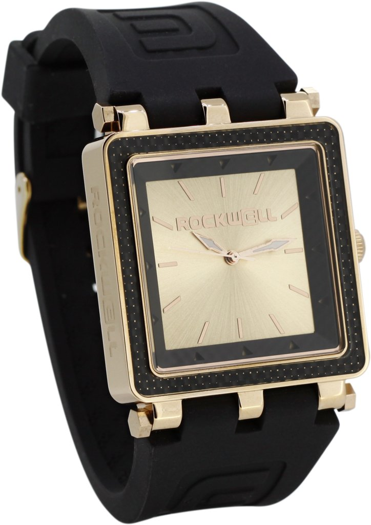 Rockwell Time CF Lite Watch, Black/Rose Gold