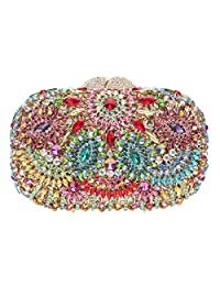 Fawziya Rotating Flower Purses For Women Luxury Rhinestone Crystal Clutch Bag