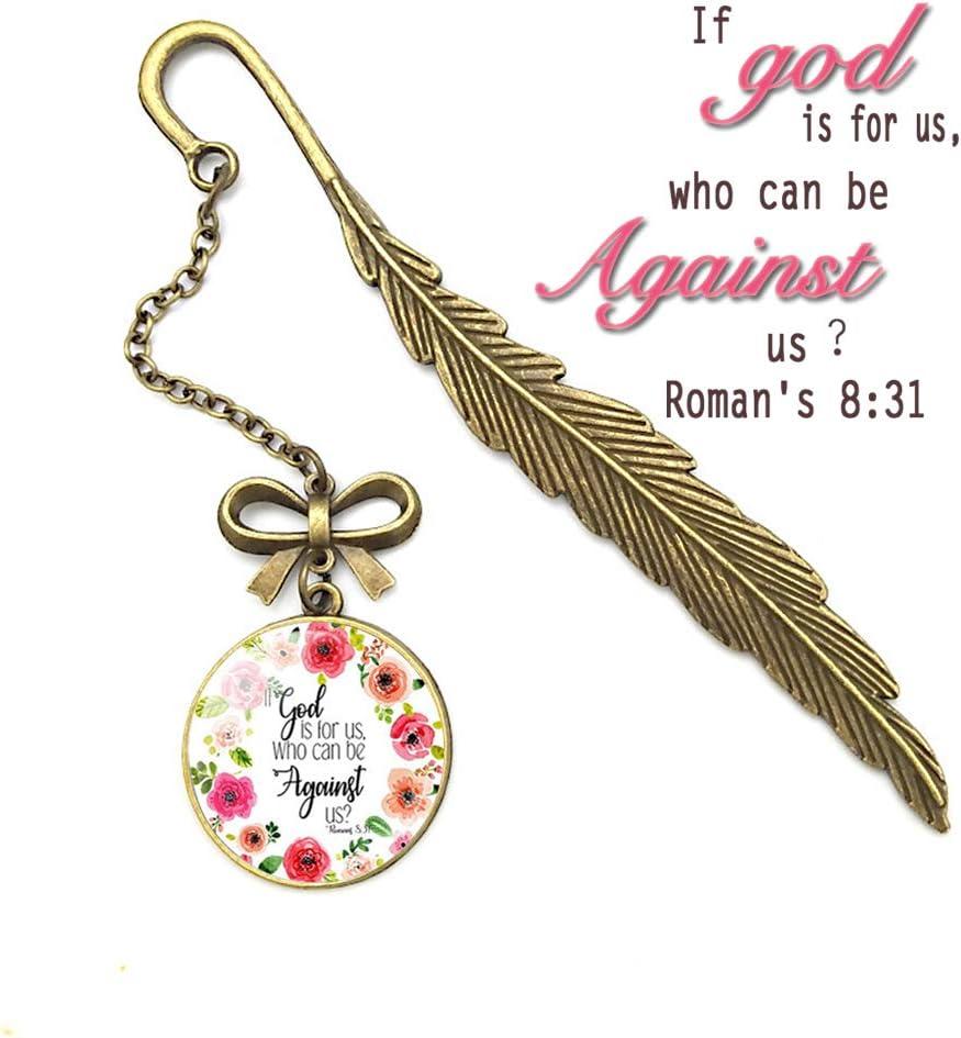 color Proverbs 31:10 Marcap/áginas de metal con dise/ño de pluma de vers/ículo de la Biblia regalos inspiradores cristianos para amigos y familia