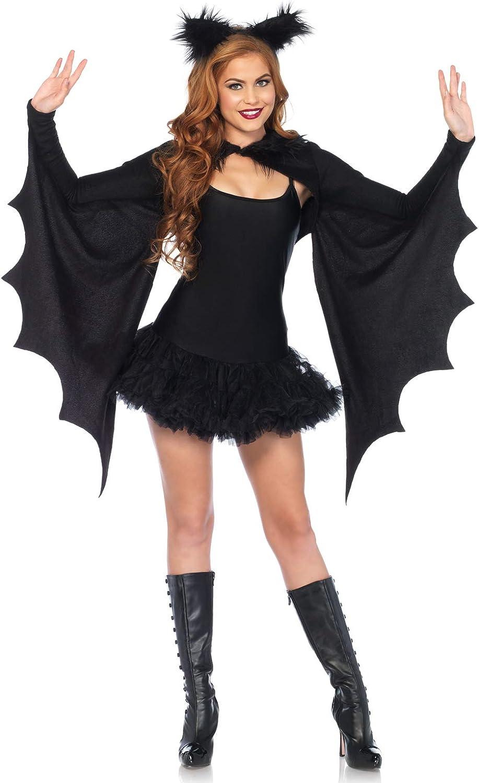 Leg Avenue Women's Cozy Bat Shrug and Headband