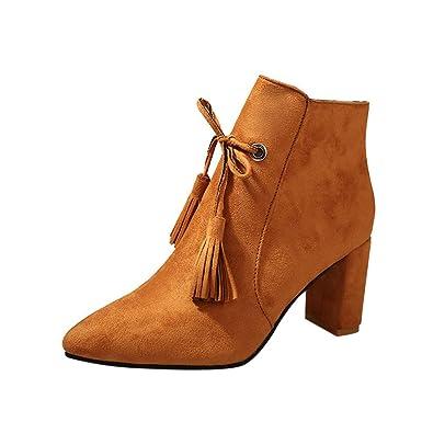 Zapatos con Flecos Botas Al Tobillo Botas de Mujer EN Negro o Rosa//Botas con ...