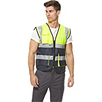 Empiral Dazzle Safety Vest Heavy Duty Dual Color with Zipper - Green