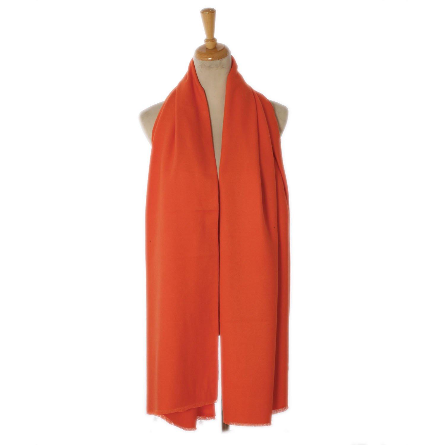 Shawl Wrap Solid Color Smooth Gentle Long For Cold Weather Girls (Orange)