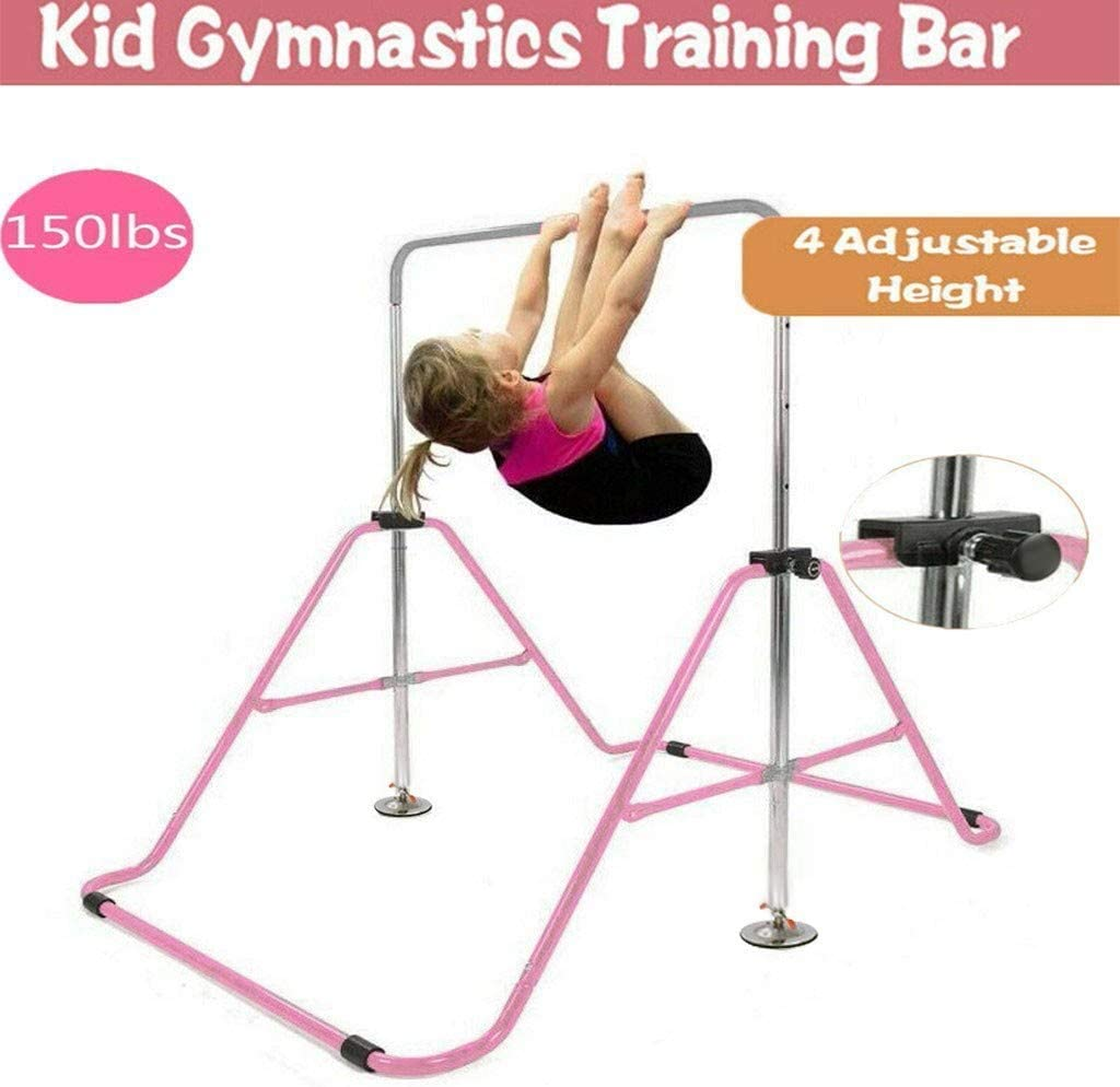 Expandable Gymnastics Bars,Adjustable Height Gymnastic Horizontal Bars,Junior Training Bar Children Folding Training Monkey Bars for Kids Ships from US