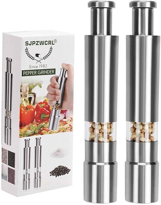 Edelstahl Gewürzmühlen Salzmühle Pfeffermühle Chilimühle Küche Werkzeug silber