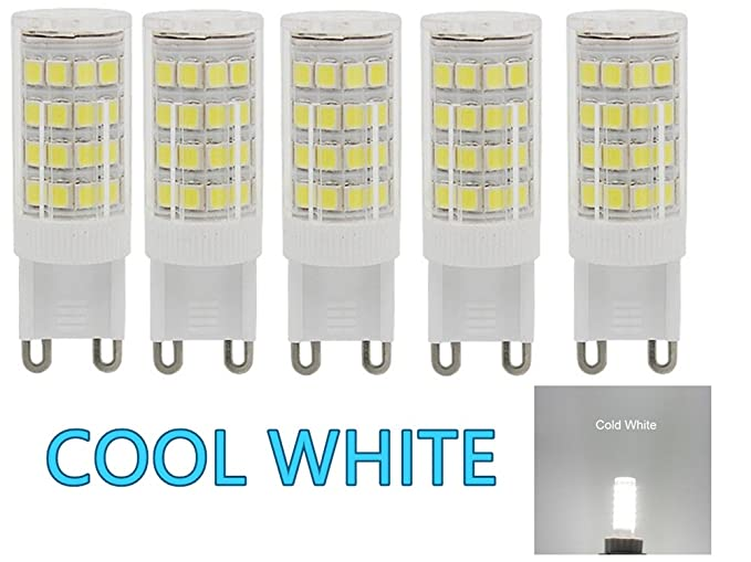 Bombilla LED G9 de 5W,40W equivalente a Bombilla Halógena,400 lm ...