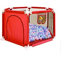 Foldable Baby Kids Playpen Activity Center Room Fitted Floor Baby Kids Safety Protection Care Playpen Tent Crawling Game…