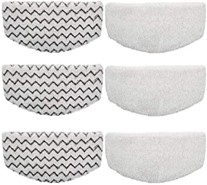 Gulongome 6 Pack Steam Mop Pad for Bissell Powerfresh Steam Mop 1940 1440 1544 1806 2075 Series, Replacement Part Model #5938#203-2633