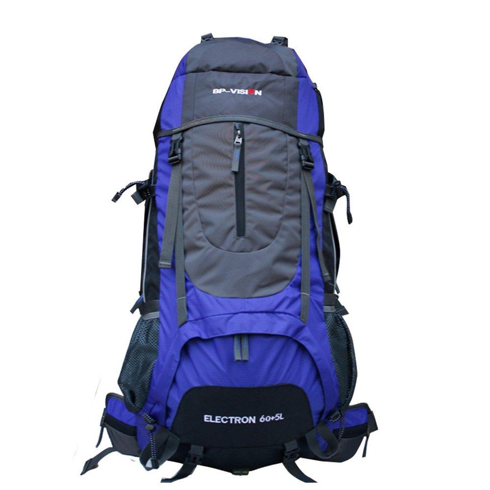 Idea Life耐久性防水ハイキングバックパック60lバックパック  ブルー B00YWHR8MA