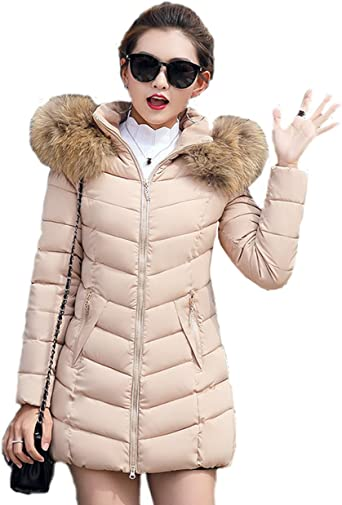 AQSG Piumino da Donna Outwear Attillato Slim Fit, Caldo e
