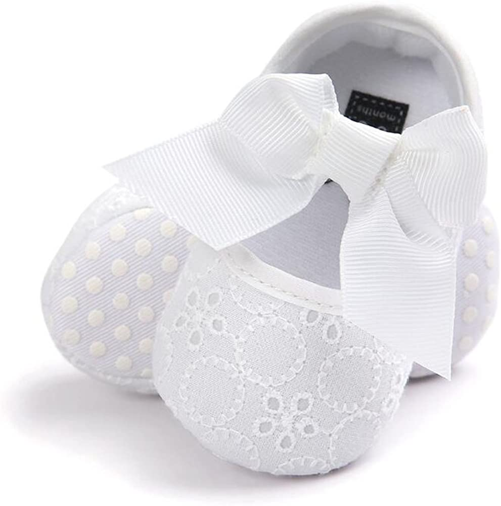 | Baby Girls Princess Bowknot Soft Sole Cloth Crib Shoes Sneaker | Sneakers