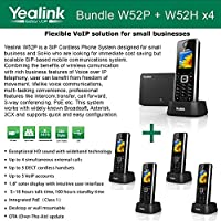 Yealink W52P + W52H X4 Cordless VoIP Phone PoE HD Voice and Base Unit