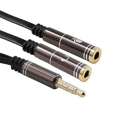 1 PC Cable De Audio Est/éreo del Divisor De Extensi/ón De 3,5 Mm Macho A 2 Puerto 3.5mm Hembra De 3,5 Mm Divisor del Adaptador Manos Libres Auricular