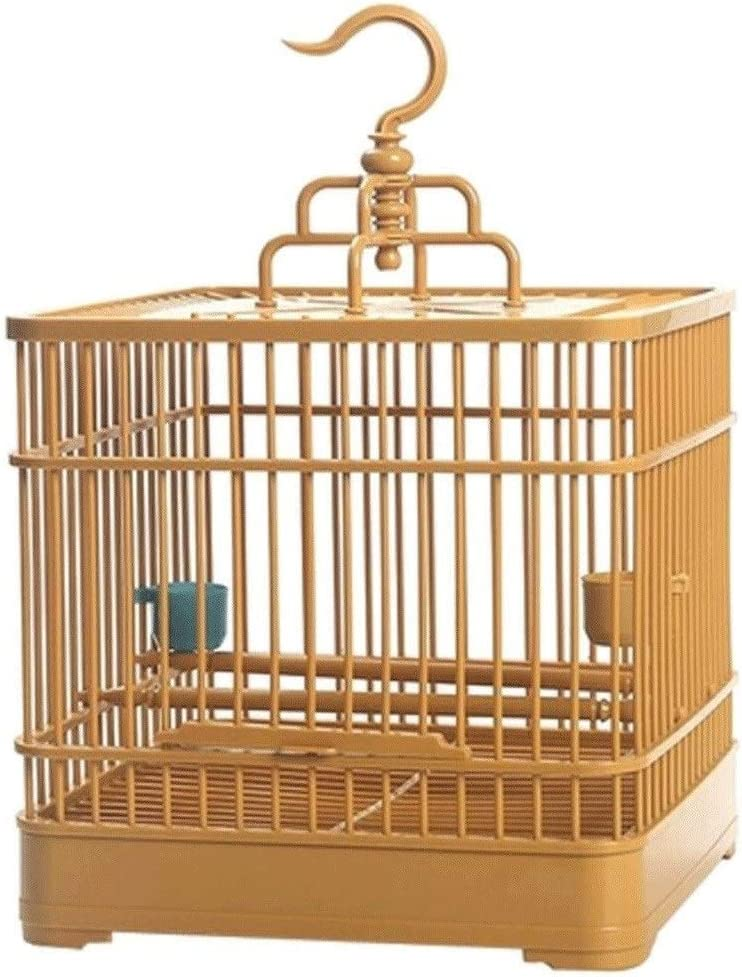 Hkwshop Jaula para pájaros Jaula de pájaros de plástico Loro Creativo Jaula de pájaros Canarios Suministros para Mascotas Jaula pájaros