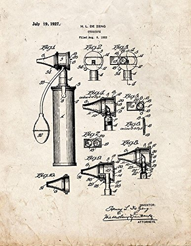 Frame a Patent Otoscope Patent Print Art Poster Old Look ...