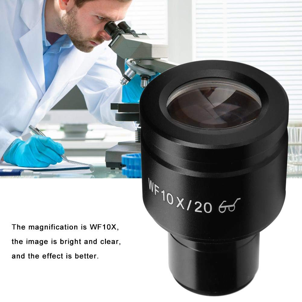 Eyepiece,WF10X//20mm Microscope Eyepiece Wide Field Eyepiece Lenses Microscope Adapter with Scale for Biological Microscope