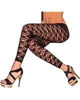 Pinkyee Women's Lace Legging One Size