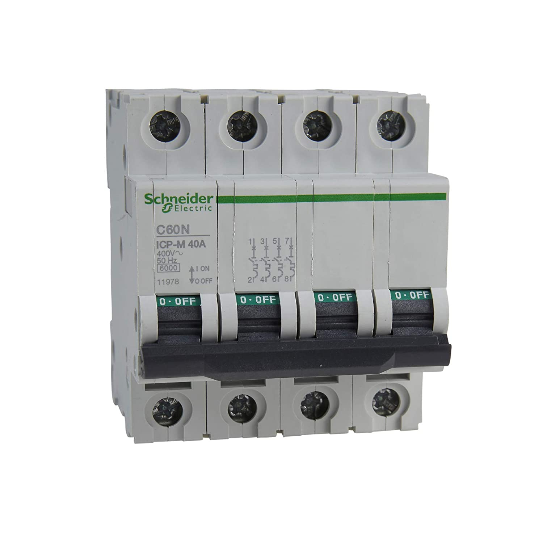 Schneider Electric 11980 Interruptor Automático Magnetotérmico 4P ...